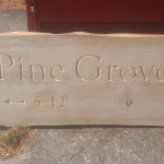 Pine Grove house sign