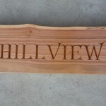 Hillview house sign