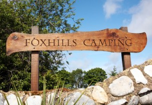 Foxhills Camping sign