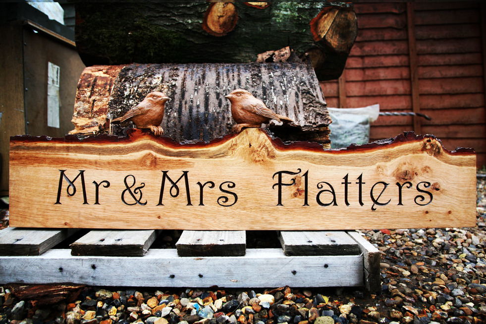 Mr and Mrs Flatters sign