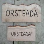 Waney edge oak house signs.