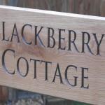 Blackberry Cottage house sign