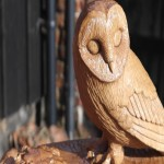 Oak memorial with mouse and barn owl..