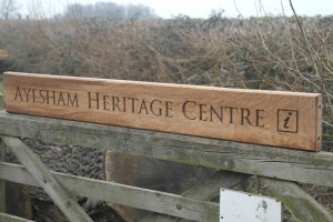 Aylsham Heritage Centre sign