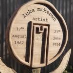 Abstract Oak memorials