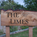 The Limes house sign