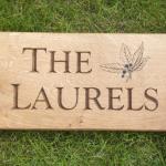 The Laurels house sign