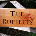 The Ruffets house sign