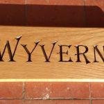 Wyvern house sign