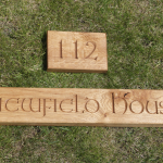 Viewfield house wooden signs